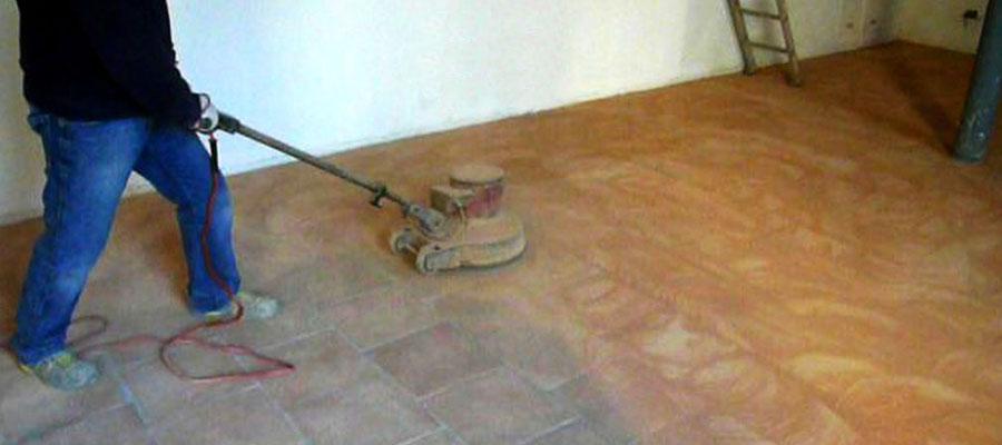 Levigatura pavimenti in cotto